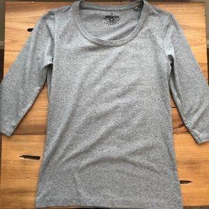Jockey Gray Tee Shirt Half Sleeve Cotton Blend
